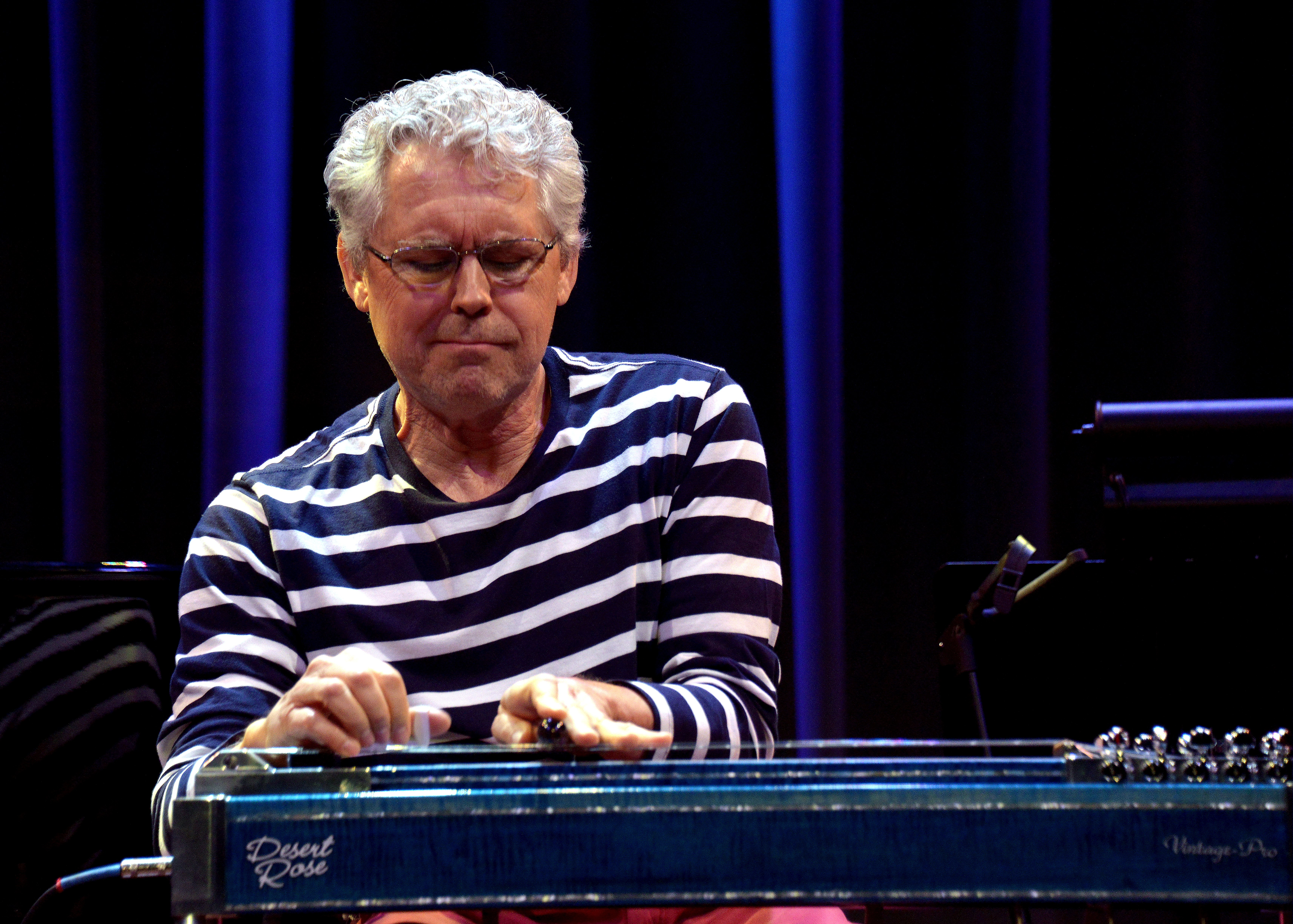 Joel Ferguson tears up the pedal steel with his original song